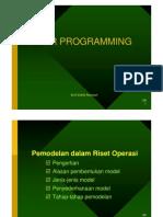 Model Riset Operasi Linier Programming