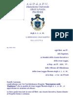 Ripa Montesano, Balaustra 1-2012, Gran Maestro, Massoneria Universale, Gran Loggia Phoenix