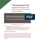 Information Mail -CIME YSP 2012