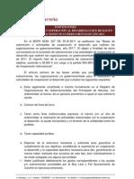 SUBVENCIONES COOPERACIÓN AL DESARROLLO 2011
