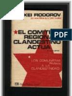 EL COMITÉ REGIONAL CLANDESTINO ACTÚA Libro 1