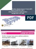 SEMINAR TA - Analisis Respon Struktur MSF Marlin B ESSO KTT 2 Menggunakan SAP 2000