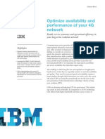 IBM - Optimize Availability & Performance of Your 4G Network
