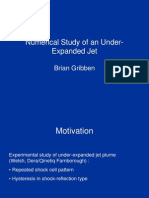 Brian Gribben- Numerical Study of an Under- Expanded Jet