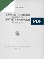 G. Oprescu- Ţările Române văzute de artişti francezi (sec.XVIII şi XIX)
