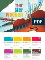 Sommerorchesterwochen 2012