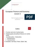 European Finance and Economy Lesson 3