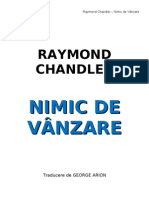 Raymond Chandler- Nimic de Vinzare