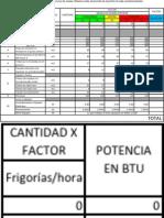 TABLA CÁLCULO DE CARGA TÉRMICA