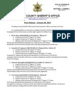 Fraud Arrests 01-30-2012
