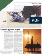 Turkey steps up pressure on Cyprus