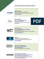 Empresas participantes del Nodo Tecnológico Asoinco