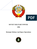 Soviet Military Power 1986 - Strategic Defense And Space Operations