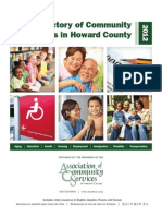 ACS Directory of Community Services in Howard County 2012
