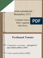 Tonnies, Lippmann, Dewey