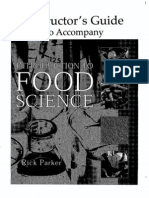 Instructors Guide for Food Science