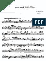 Hindemith - Kleine Kammermusik Op. 24 No. 2 (Parts)
