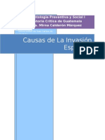 Causas de La Invasión  Española