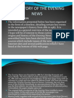 The History of the Evening News