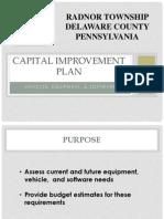 Radnor Cap Improvement Plan