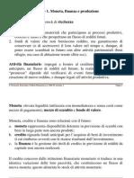 Lezione 1 Moneta e Finanza
