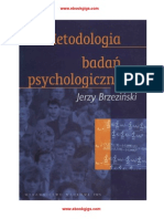 Metodologia Badan Psychologicznych-Jerzy Brzezinski