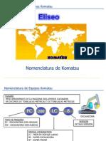 Nomenclatura de Equipos Komatsu