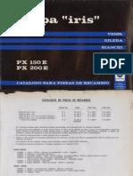 Manual Despiece Vespa 200Iris