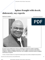 Nigeria Newspapers -National Mirror -News From Nigeria - Nigerian Workplace Fraught With Deceit, Dishonesty, Say Experts