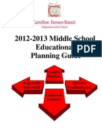 Middle School Educational Planning Guide 2012-2013