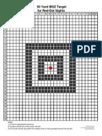 Red Dot Target 50 Yards