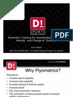 Plyometric Training for Acceleration