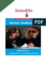 Handreichung Arbeitsformen in Der Gymnasialen Oberstufe