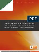 Principales Resultados de la EIGH Chiapas 2010