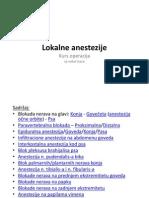 Lokalne anestezije