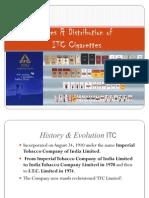 Distribution of ITC Cigarettes