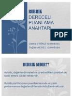 2010-2011 ÖLÇME VE DEĞERLENDİRME  (Ertuğ CAN) - Rubric