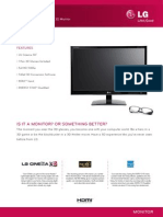 LG Monitor D2342P Spec Sheet
