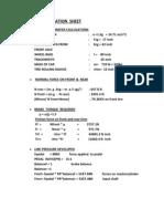 Brake Calculation Sheet