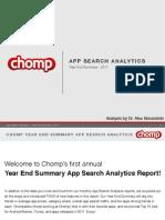 Chomp Charts 2011 Summary