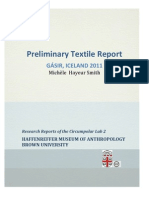 No. 2  Preliminary  Textile Report - Gá́sir, Iceland