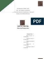 Plan de produccion Cafe El Cafetal
