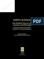 Empty Justice One Hundred Years of Law Literature and Philosophy