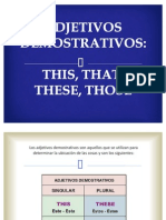 Adjetivos Demostrativos - This, That, These