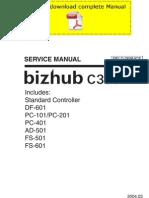 KONICAMINOLTA Bizhub C350 Service Manual Pages