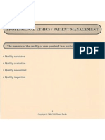 Professional Ethics and Patient Management