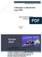 Modalităţi de finanţare a obiectivelor strategiei Europa 2020