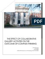 The Effect of Collaborative Gallery Activites on the Outcome of Complex Thinking