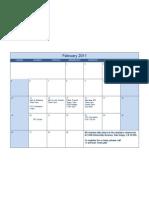 February Class Calendar- San Diego