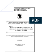 Ngos_government Strategies in the Provision of Sustainable Potable Water in Nkambe